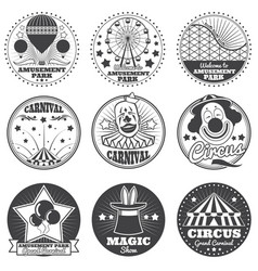 Amusement park circus and carnival vintage vector