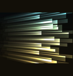blue yellow overlap stripe rush in dark background vector image