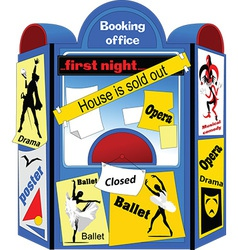 Booking office cartoon vector
