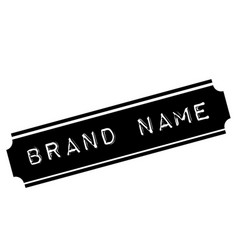 Brand name black stamp vector