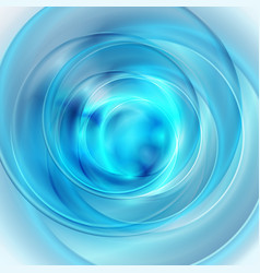 bright blue glossy circles abstract background vector image