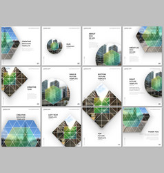 Brochure layout square format covers design vector