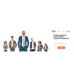 business people team leader businessmen women vector image