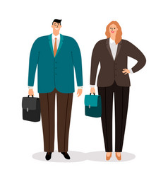 busnessmen couple in suits vector image