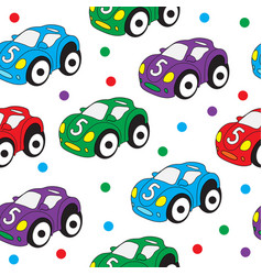 Children s toy car seamless texture car vector
