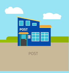 Colored urban post building vector