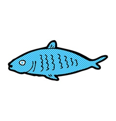comic cartoon fish vector image