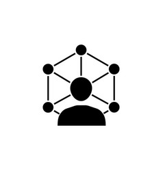 community network solid icon vector image