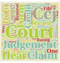 County Court Judgements Explained text background vector