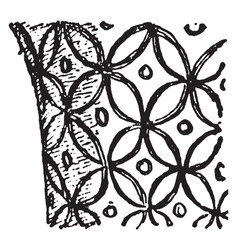 Cretan ornament is a all-over pattern vintage vector