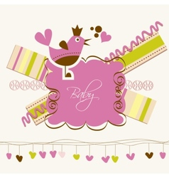 Cute baby arrival card vector