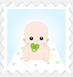 Cute Cartoon Baby Boy vector image