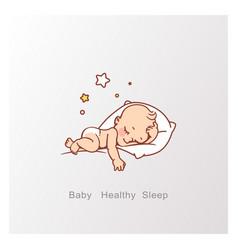 cute little baboy or girl sleeping vector image