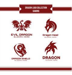 dragon logo collection vector image