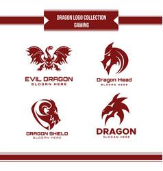 dragon logo collection vector image