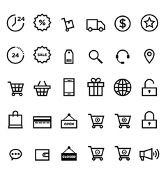 E-commerce outline icon set vector image