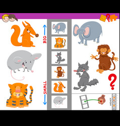Educational activity with large and small animals vector