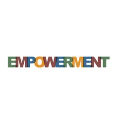 empowerment management business card text modern vector image