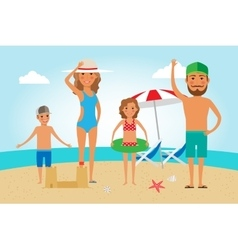 Family Beach Vacation vector