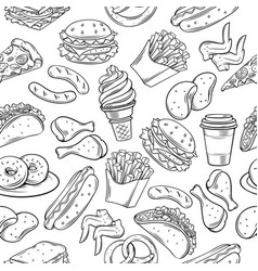 Fast food seamless vector