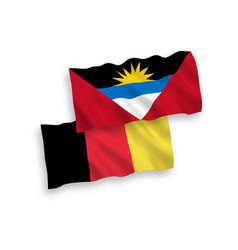 Flags belgium and antigua and barbuda vector