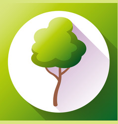 flat green tree icon save forest and vector image