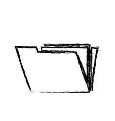 Folder file archive document technology sketch vector