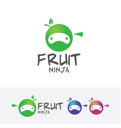 Fruit ninja logo design vector