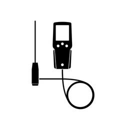 Gas analyzer icon vector