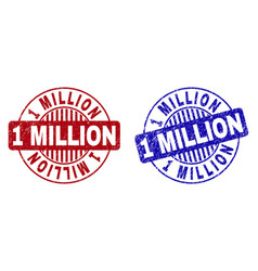 Grunge 1 million scratched round stamp seals vector
