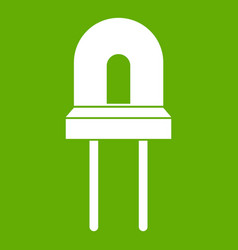 Halogen lamp icon green vector