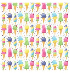 Ice cream summer pattern seamless vector
