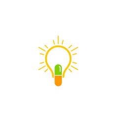 Idea medicine logo icon design vector