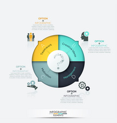Infographics - pie chart with 4 options vector