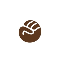 Isolated abstract brown color fist logo Human vector image