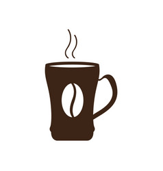 isolated coffee mug icon vector image