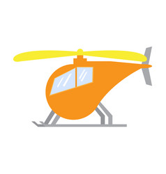 Isolated helicopter toy vector