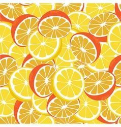 Lemon and orange lemonade yellow seamless pattern vector