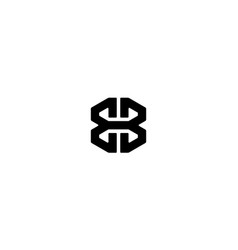 Letter e and b or b and b logo design concept vector