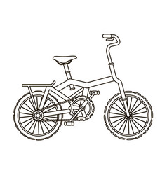 Little orange children s bicycle bicycles for vector