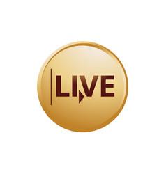 Live button vector