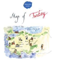 map attraction turkey vector image