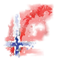 map of Norway Watercolor paint vector image