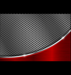 Metal perforated background with red wave vector
