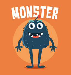 monster with long legs vector image