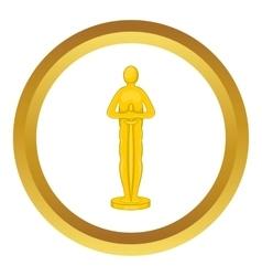 Movie award icon vector