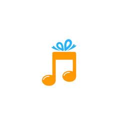 Music gift logo icon design vector