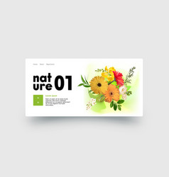 nature power landing page design with gerbera vector image
