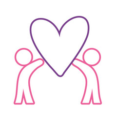 pictogram people with heart vector image