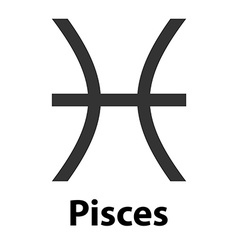 Pisces fish zodiac sign icon vector image